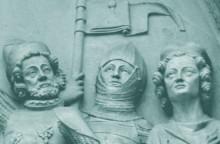 Tympanon vom Portal der Wiener Minoritenkirche, um 1340/50