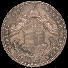 1 gulden, 1869