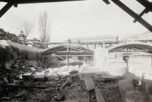 Abtragung der Elisabethbrücke am 22.3.1898