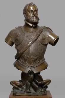 Adrian de Vries: Half-length portrait of Rudolf II, 1603, bronze