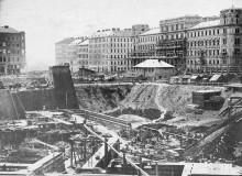 Albert Hilscher: Baubeginn der Oper, 1863, Fotografie