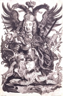 Allegory on Franz Stephan of Lorraine as Emperor of the Holy Roman Empire, engraving, 18th century