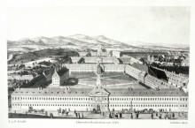 Allgemeines Krankenhaus, um 1793, nach einem gefärbten Stich von J. u. P. Schaffer