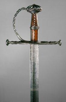 Ambrosius Gemlich: Sidearm with calendar blade, 1533