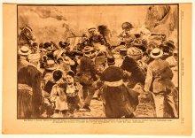Assassination at Sarajevo, newspaper illustration, 1914