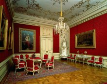 Emperor Franz Joseph's audience chamber in the Vienna Hofburg