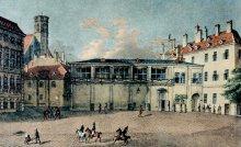 """""""Ballplatz mit Ballhaus"""", nach einem anonymen Aquarell, Wien"""