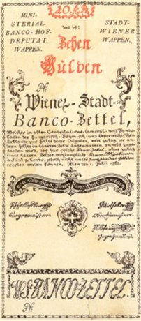 10-gulden bank note, issued 1 July 1762
