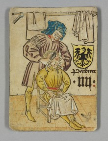 Barber (playing card), c. 1455
