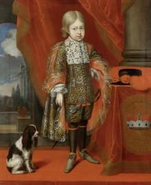 Benjamin von Block: Kaiser Joseph I. im Alter von sechs Jahren mit einem Hund, 1684