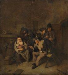 Cornelis Bega: Bauern in der Stube, um 1660
