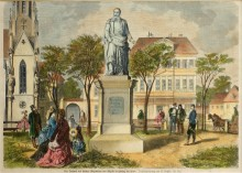 The monument to Archduke Maximilian in Hietzing near Vienna, xylograph, c. 1890