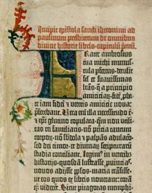 The beginning of the Gutenberg Bible, Part 1: Old Testament, Epistle of St Jerome, 1452–1454