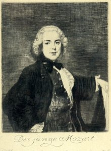 'The Young Mozart', portrait, 1901, etching
