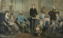 'The family of the Emperor of Austria', xylograph