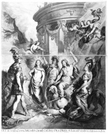 Franciscus van der Steen after Joachim von Sandrart: The Triumph of Ferdinand III