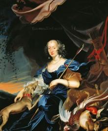 Frans Luycx: Eleonore von Gonzaga (1628–1686) als Diana, Kaiserin, dritte Gemahlin von Ferdinand III., 1651, …