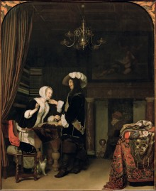 Frans van Mieris the Elder: Cavalier and Merchant Girl, 1660