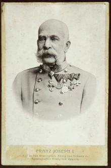 Franz Joseph als Greis, historische Fotografie, nach 1900