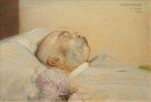 Franz von Matsch: Franz Joseph on his deathbed, oil painting, 1916