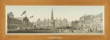 'Franzens-Ring: view towards the suburbs', montage with City Hall, Parliament and University