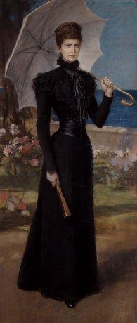 Friedrich August von Kaulbach: Elisabeth auf Korfu, Pastell auf Papier, nach 1898
