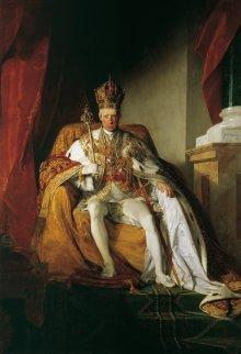 Friedrich von Amerling: Emperor Franz II (I) in the regalia of the Austrian Empire, 1832, oil on canvas