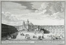 G. D. Heumann (after Salomon Kleiner): View of the old castle at Laxenburg, etching, 18th century