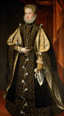 Alonso Sánchez Coello: Anna of Austria, Queen of Spain, painting, 1571