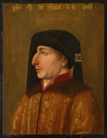 Herzog Philipp (der Kühne) von Burgund im Profil