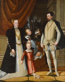 Giuseppe Arcimboldo (attr.): Emperor Maximilian II and his family, c. 1563