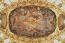 Gregorio Guglielmi, The Prosperity of the Monarchia Austriaca, the central ceiling fresco in the Great Gall...