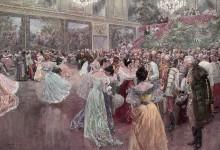 Hofball. Druck nach einem Gemälde von Wilhelm Gause, nach 1900