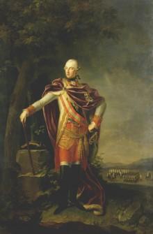 J. B. Lampi d. Ä. (?): Kaiser Joseph II. in Feldherrenpose, Ölgemälde, 18. Jahrhundert