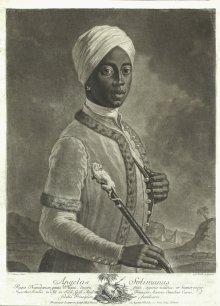 J. G. Haid (nach J. N. Steiner): Angelo Soliman, Schabblatt, um 1750