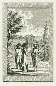 J. G. Mansfeld: Aufhebung der Klöster unter Joseph II., Kupferstich, 1789
