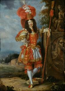 Jan Thomas: Kaiser Leopold I. im Theaterkostüm, Gemälde, 1667