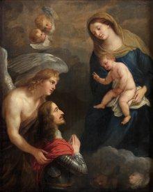 Jan van den Hoecke, Archduke Leopold Wilhelm praying to the Madonna, painting, c. 1650