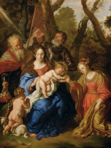 Joachim von Sandrart: The mystic marriage of St Catherine with SS Leopold and William, 1647