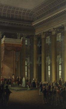 Marschall Berthier hält im Namen Napoleons um die Hand Marie Louises an
