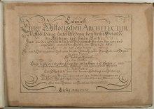 Johann Bernhard Fischer von Erlach: *Entwurff Einer Historischen Architectur*: title-page, Book 1, Leipzig, 1…