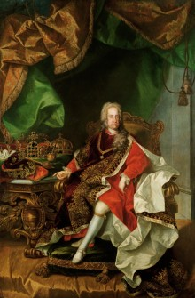 Johann Gottfried Auerbach (?): Emperor Charles VI in the ceremonial robes and collar of the Order of the Go...