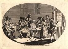 """Johann Hieronymus Löschenkohl: """"So lebt man am Spitelberge im extra Zimmer"""", Kupferstich und Radierung, 1783"""