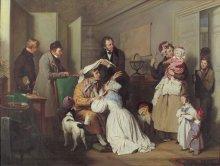 Josef Dannhauser: The Oculist, oil on canvas, Vienna 1837