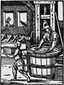 """Jost Amman: Papyrer (""""Ständebuch""""), 1568"""