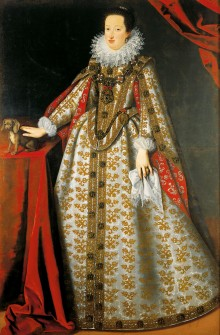 Justus Sustermans: Eleonora of Gonzaga (1598–1655), second wife of Ferdinand II, in her bridal gown, 1621, ...