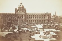 Emperor Franz Joseph unveils the monument to Maria Theresa designed by Caspar von Zumbusch on 13 May 1888, ...