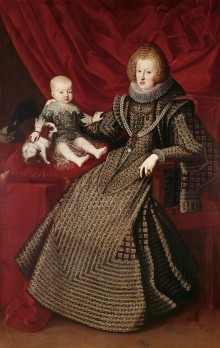 Empress Maria Anna with her first-born son Ferdinand, 1634