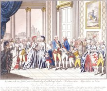 Leopold II surrounded by his family, etching, c. 1790