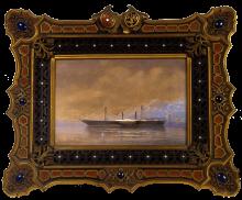 The Lloyd steamer *Archduchess Charlotte*, watercolour, 1887
